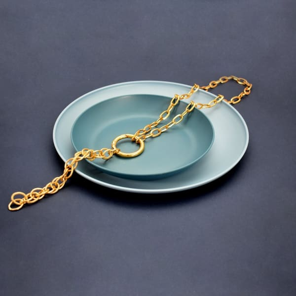 Royal Lariat Necklace - Gold - Front