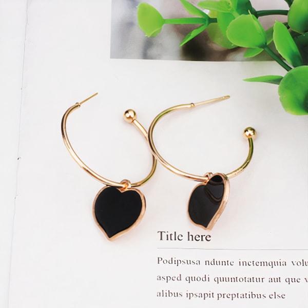 My Love Earrings - Black - Front