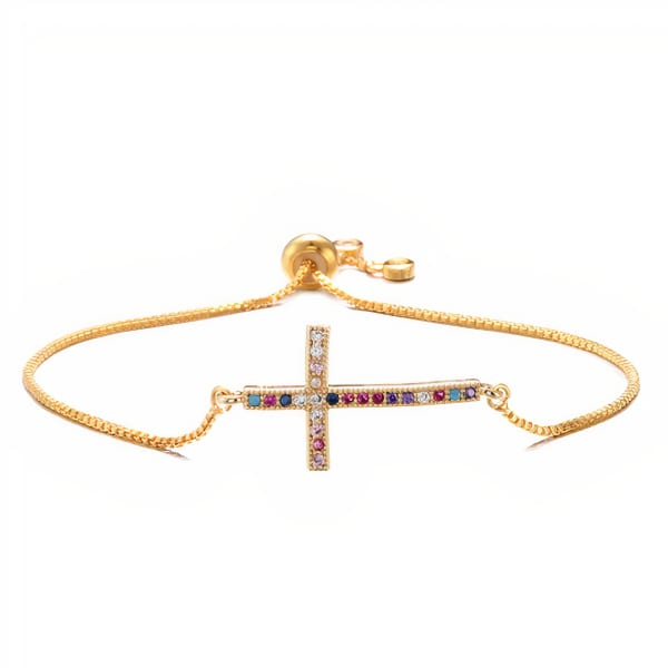 Gold Plated Milagros Bracelet - Gold - Front