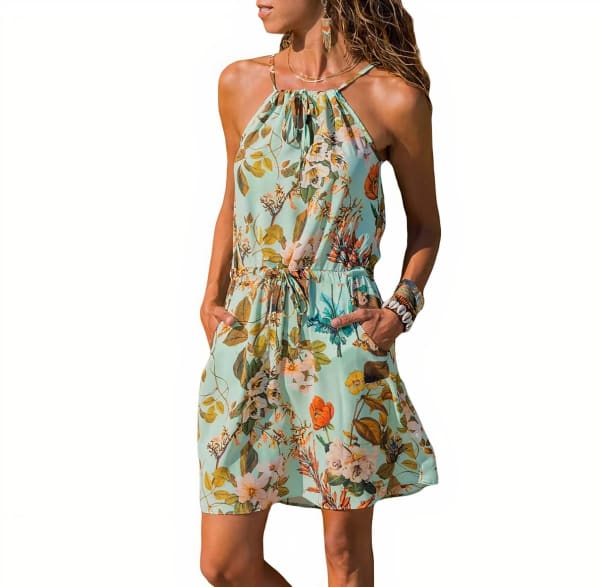 Floral Print Lupe Dress - Multi - Front