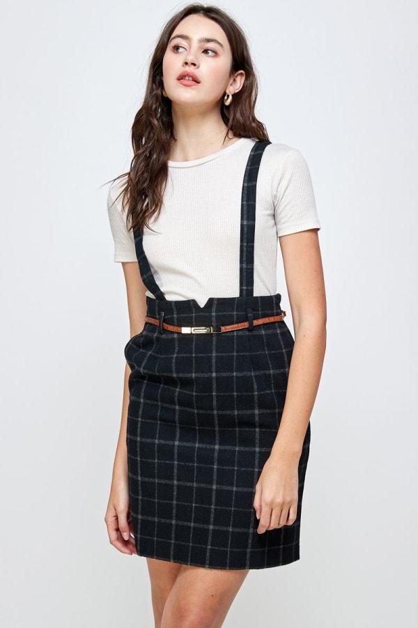 Kaii Suspender High Waisted Skirt