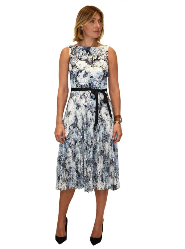 Printed Scuba Midi Dress