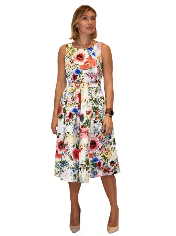 Garden Party Jacquard Midi Dress
