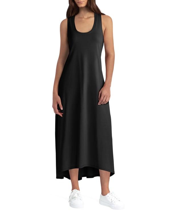 H Halston Studio Hi Low Cotton Dress