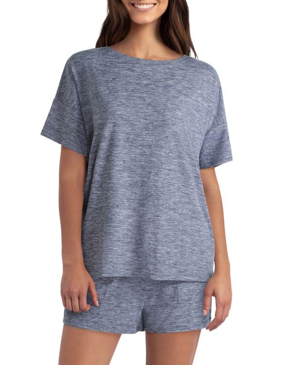 H Halston Studio Drop Shoulder Pullover T-Shirt
