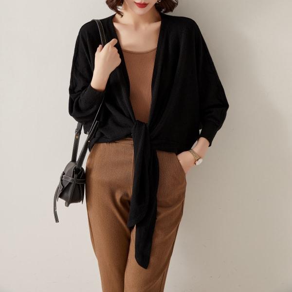 Tie Front Soft Cardigan