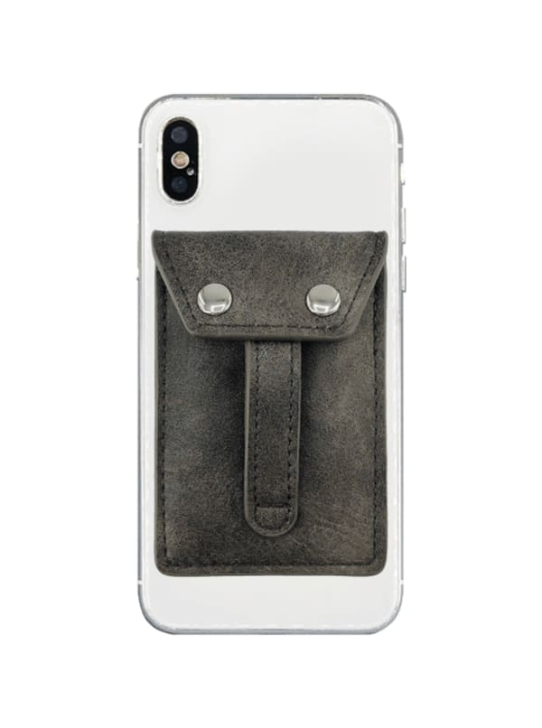 Phone Flipper Wallet - Fossil Grey - Front