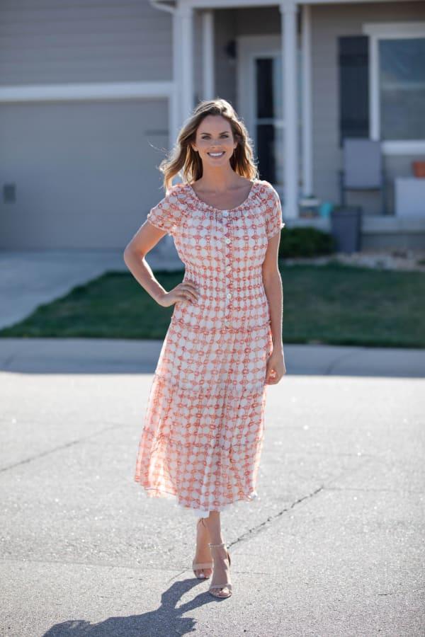 Vienna Batik Maxi Peasant Dress