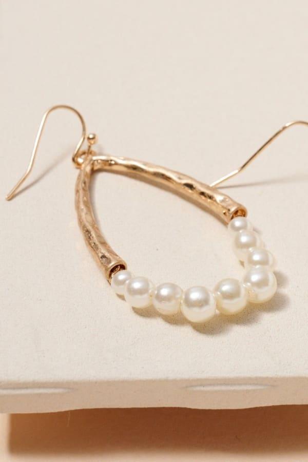 Pearls Tear Drop Dangling Earrings