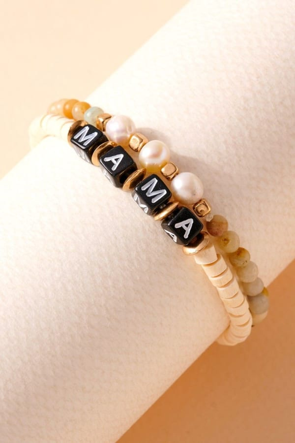 Inspirational Pearl Stones Bracelet Set