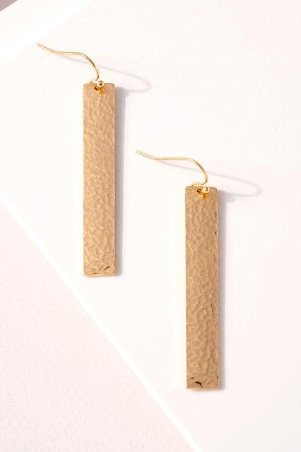 Metal Bar Dangling Earrings