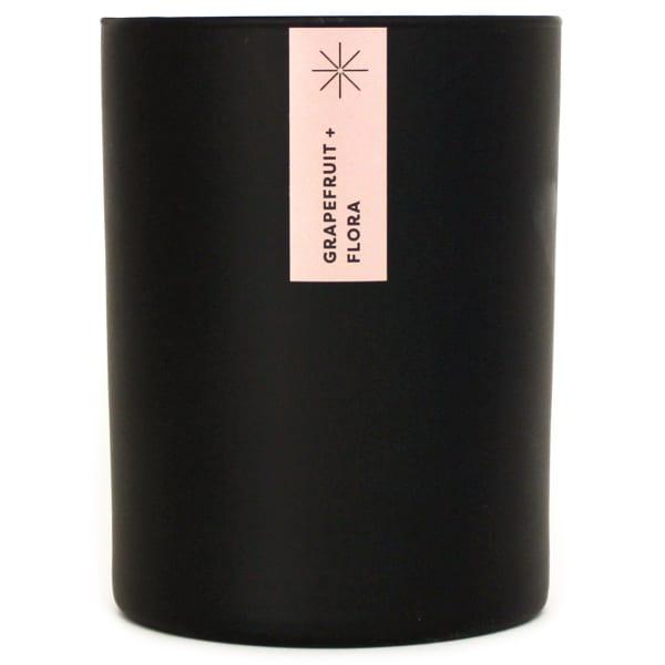 Matte Black Tumbler Soy Grapefruit and Flora Candle - Black - Front