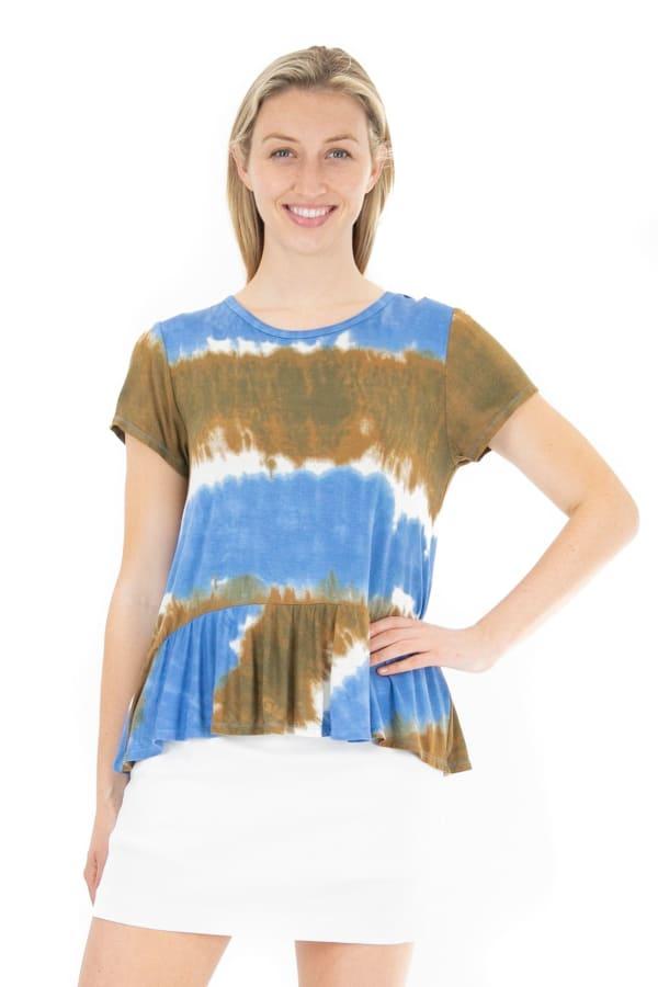 Nanette Lepore Relax Peplum Tie Dye Top