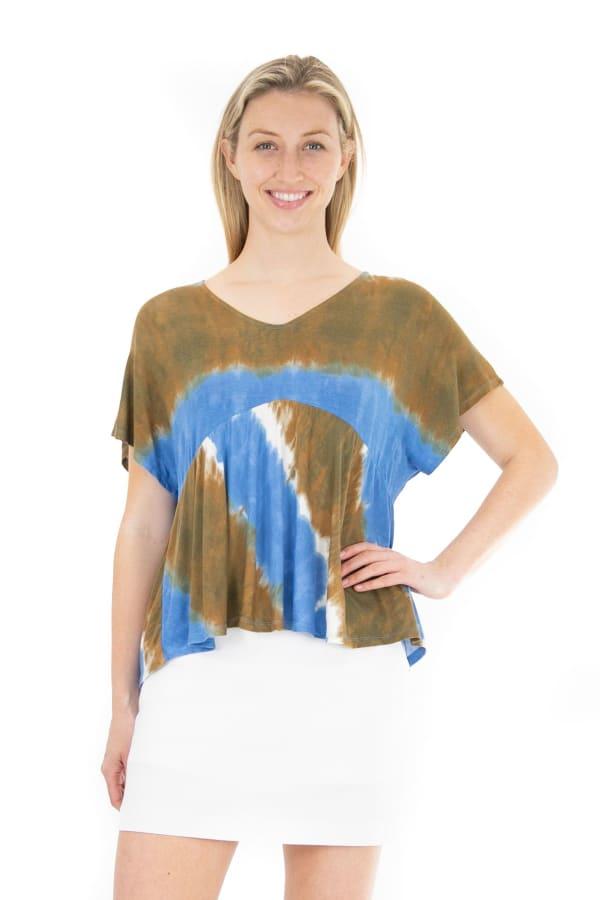 Nanette Lepore Tie Dye Knit Top