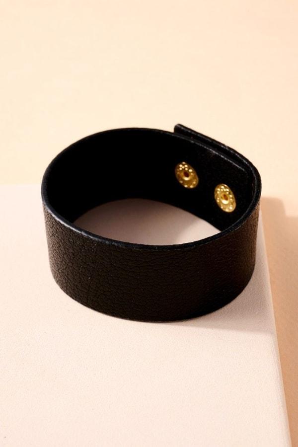Solid Genuine Leather Bracelet
