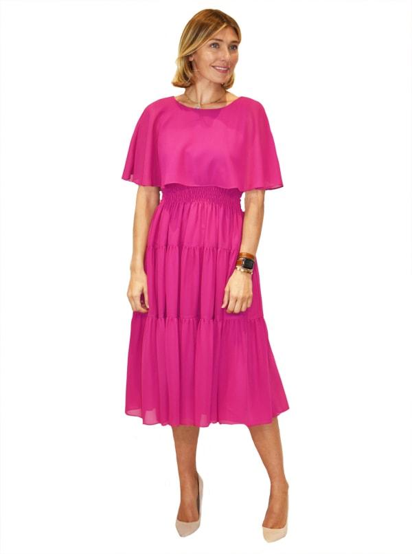 Maison Tara Scattered Dot Capelet Dress