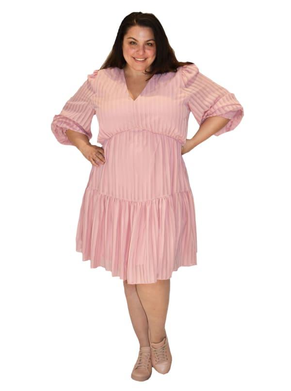 Maison Tara V-Neck  Dress - Plus