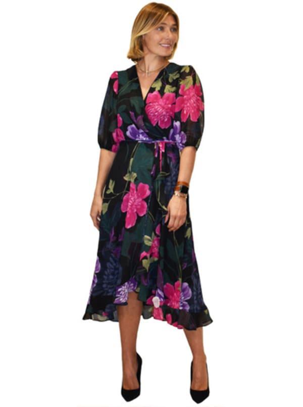 Maison Tara Large Floral Wrap Dress