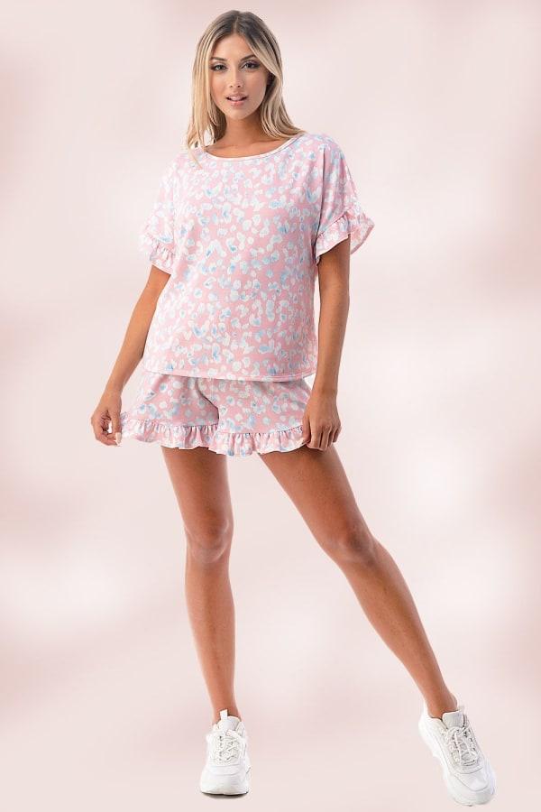 Matching Loungewear Shorts Set