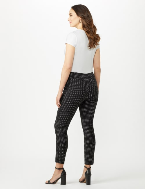 Printed  Superstretch Pull On Pants