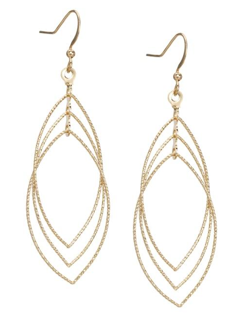 Layered Gold Leaf Earrings