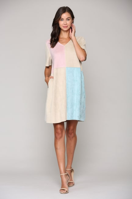 Annalise Stretch Suede Dress