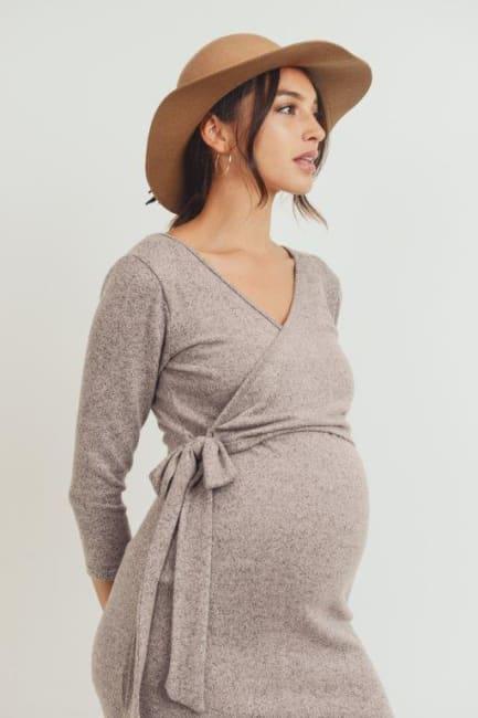 Little Momma's V-Neck Wrap Dress