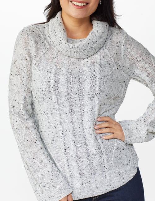 Novelty Sleeve Curved Hem Sweater