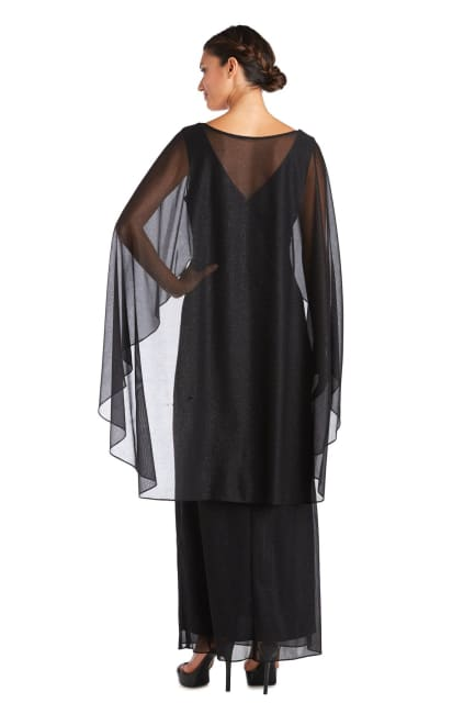 Empire Waist Gown with Sweetheart Neck and Attached Cape - Petite