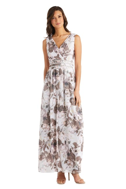 Rhinestone Detail Wrap Dress With Over Skirt - Petite
