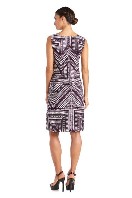 Puff Print Jacket Dress - Petite