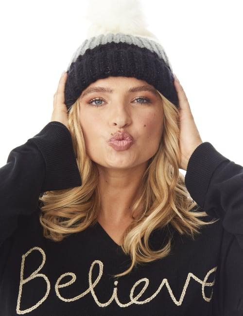 Colorblock Beanie Winter Hat