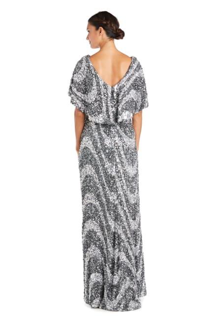 Flutter Capelet Wave Sequin Dress