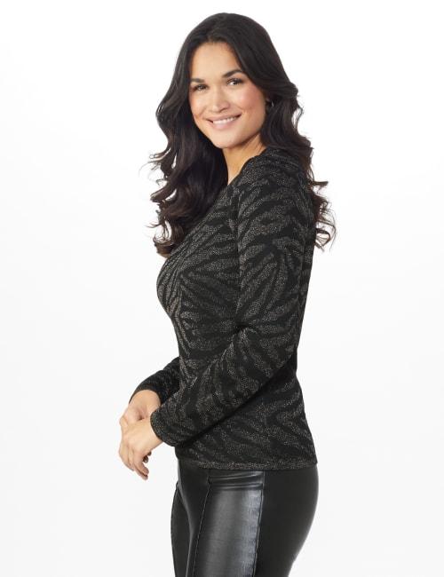 Animal Lurex Pullover Sweater