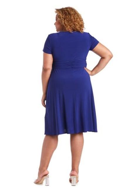 Short-Sleeve Faux-Wrap Dress - Plus