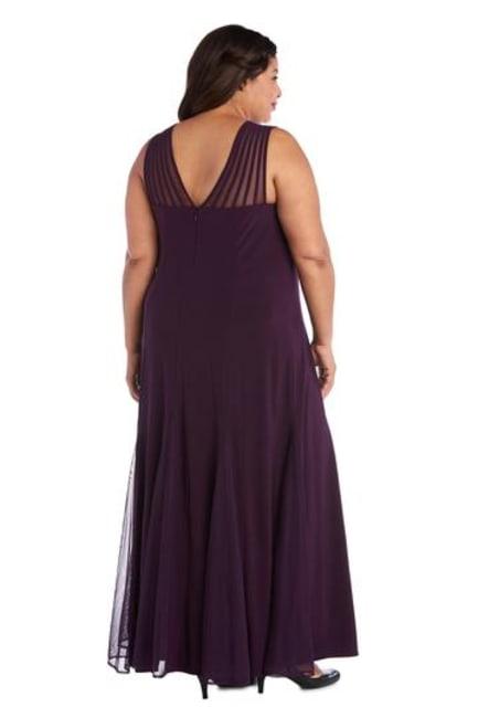 Sleeveless Maxi Dress with Sheer Cutouts - Plus