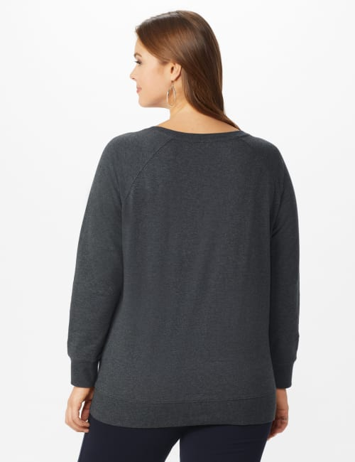 DB Sunday Party Sequin French Terry Sweatshirt - Plus