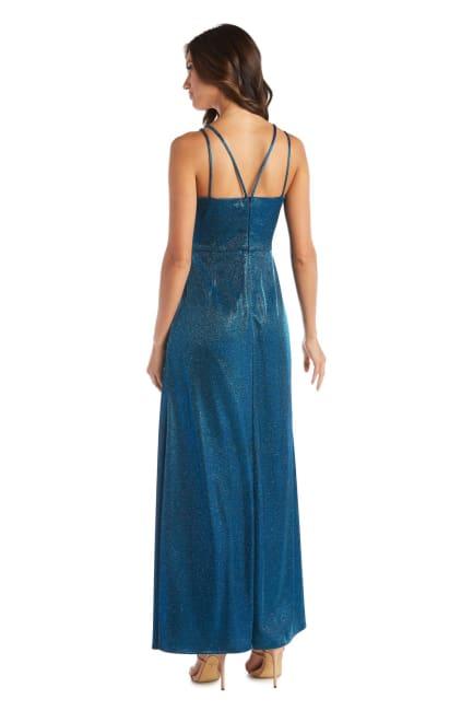 Morgan & Co. Trendy Surplice Metallic Gown
