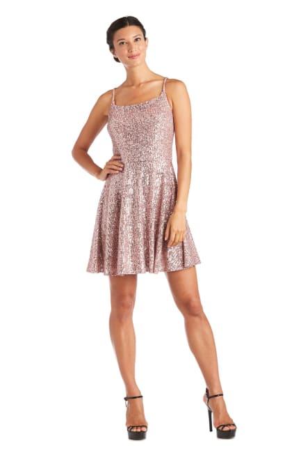 Morgan & Co. Short Sequin Skater Dress
