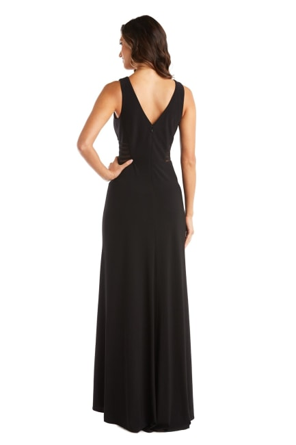 Morgan & Co. Glitter Lace Keyhole Bodice Gown