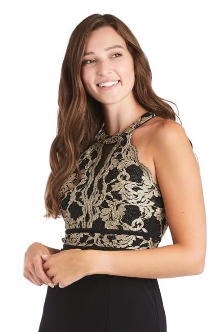Morgan & Co. Scallop Lace Bodice Gown - Misses