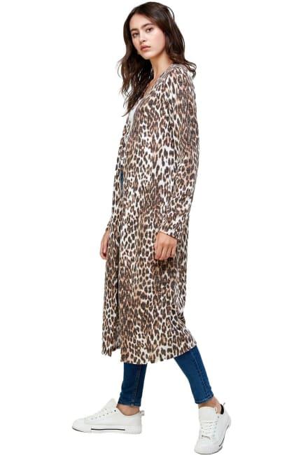 Leopard Patterned Long Duster
