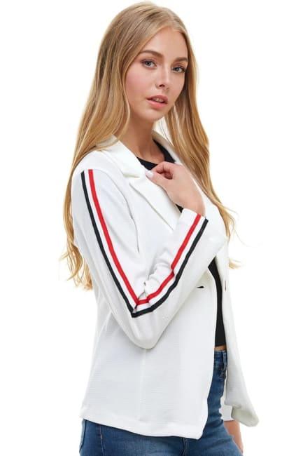 Sport Stripe Tape Detailed Blazer