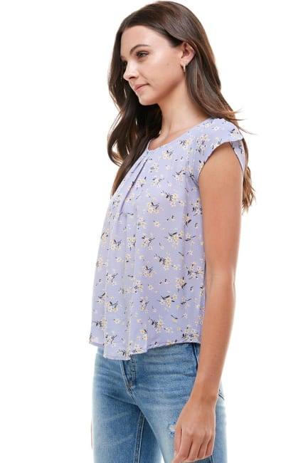 Small Floral Tulip Sleeve Top