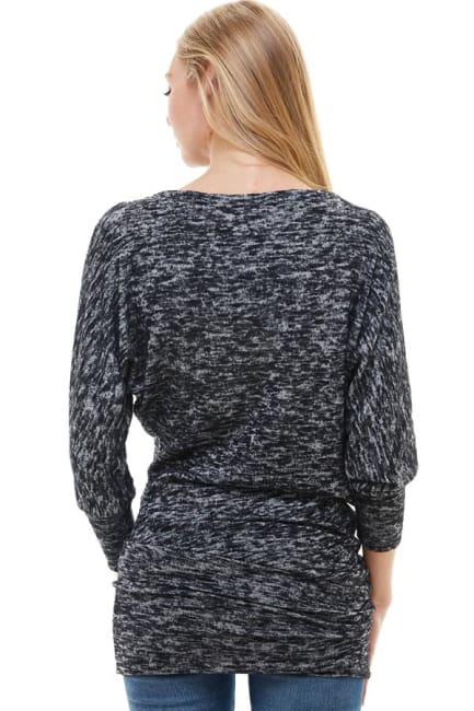 Marled Sweater Knit Tunic