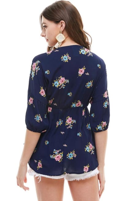 Small Floral Babydoll Top