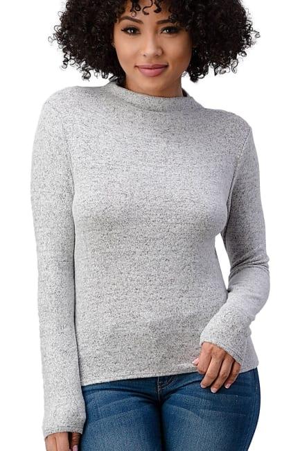 Cozy Knit Mock Neck Top