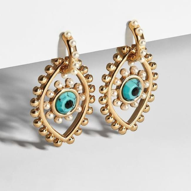 Gold Plated Focus Earrings