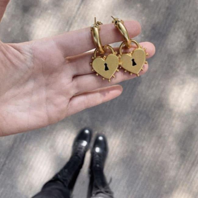 Locked Heart Earrings
