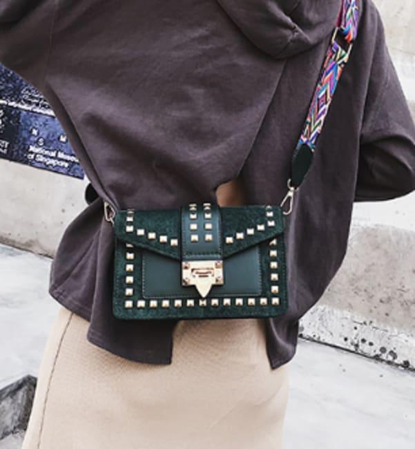 Betty Shoulder Bag - Velvet Finish